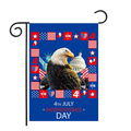 Garden Flag Patriotic 12x18 Double Sided Gnomes Holiday Fourth of July Independence Day Memorial American Flag Decorations for Home Yard Outdoor Small Banner Sign