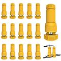 JACKYLED Low Voltage Fastlock Landscape Light Cable Connectors 16-Pack, 12-16 Gauge Landscaping Wire Connectors for Outdoor Path Lights Pathway Lighting Spotlights (Yellow)