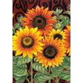 """Sunflower Medley 28"""" x 40"""" Decorative Flower House Flag, DURABLE FLAG: Toland Home Garden's durable indoor, outdoor art flags and banners are made.., By Toland Home Garden"""