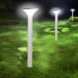 EBTOOLS Yard Solar Post Light,6500K Outdoor LED Solar Post Light with Automatic On/Off Sensor for Lawn Yard Patio Walkway, Garden Post Light