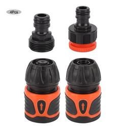 Tebru 4Pcs Garden Hose Quick Connector Water Pipe Adapter Kit Home Gardening Accessories for 1/2 Hose, Hose Connector Kit,Hose Connector