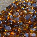 """Fire Pit Glass - Middle Amber Reflective Fire Glass Beads 3/4"""" - Brown Reflective Fire Pit Glass Rocks - Blue Ridge Brandâ""""¢ Reflective Glass Beads for Fireplace and Landscaping 3, 5, 10, 20, 50 Pounds"""