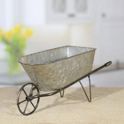 American Mercantile Metal Tabletop Wheelbarrow Planter
