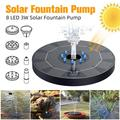 Vtin 8 LED Solar Fountain Pump 3W Circle Garden Solar Water Pump Solar Powered Water Pump Floating Fountain Pump For Birdbaths Ponds