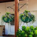1 Pack Metal Hanging Plant Bracket Hook Outdoor Heavy Duty Plant Bracket Hangers Garden Indoor Wall for Decorative Hanging Lantern Planter Bird Feeders Flower Basket Decoration Home