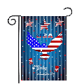 4th of July Garden Flag Patriotic 12x18 Double Sided Gnomes Holiday Fourth of July Independence Day Memorial American Flag for Home Yard Outdoor Small Banner Sign