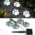 Hot 4 Solar Dog Cat Animal Paw Print Lights Garden Outdoor LED Path Lamp Auto On
