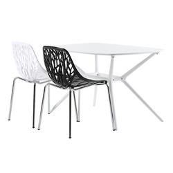 LAFGUR Chair, Lounge Chair White,4pcs Bird's Style Lounge Chair Modern Living Room Office Seat Stool Black