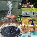 Solar Fountain, Solar Bird Bath Fountain Pump, Newest Solar Fountain with 5 Nozzle, Free Standing Floating Solar Powered Water Fountain Pump for Bird Bath, Garden