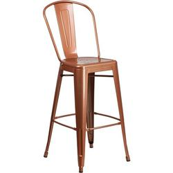 """Flash Furniture Commercial Grade 30"""" High Copper Metal Indoor-Outdoor Barstool with Back, If you're a trendsetter looking for your next great find,.., By Visit the Flash Furniture Store"""