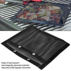 Gupbes Heat-Resistant BBQ Bake Bag, Non-Stick BBQ Bake Bag,Non-Stick BBQ Bake Bag Heat-Resistant Mesh Grilling Bag Outdoor Panic Tool