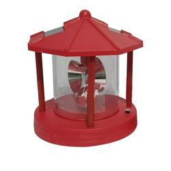 ✪ Retro Solar Powered Beacon Tower Rotating Light Outdoor Garden Decor Lantern LEDs Landscape Decorative for Deck Patio Yard Porch Pathway Lighting Equipment