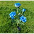 Garden Rose,solar Light with 5 Rose Flowers,Garden Decoration,Path Lighting, Landscape Lighting,Lighting for Terrace,Courtyard, Decoration