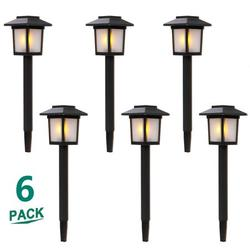 Solar Yard Lights Outdoor Lights for Patio, SEGMART Solar Powered Outdoor Lights Waterproof Garden Lights, Path Lights Solar Lights for Walkway Garden Outside, Auto on/off, Wireless, 6 Pack, H1157