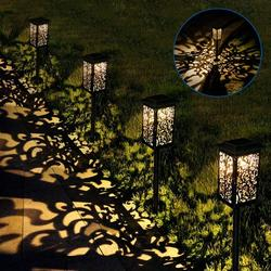 Waterproof Outdoor Solar Lights, Solar Powered Garden Lights, Solar Lights Bright Pathway, Auto on/Off Solar Light, High Lumen LED Solar Lights for Yard, Garden, Lawn, Patio, Walkway (4Pack)