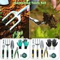 Willstar 6PCS Home Gardening Tools Set Alloy Steel Rake Fork Hoe Cultivator Trowel Kit Garden Gloves Plants Shears Weeder Gift