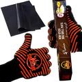 BBQ Gloves and Grill Mats Set ? Extra Large Extreme-Heat-Resistant BBQ Gloves with Nonslip Silicone Grip ? Grilling Kit Includes Nonstick Grill Mats & Recipe eBook