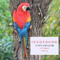 Onever Resin Parrot Bird Statue Wall Mounted Outdoor Garden Tree Lawn Decors Ornament