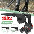 Electric Blower Handheld Cordless Blower 110V 2 Speed Adjustable with 128V 18500mAh Li-ion Battery Portable Vacuum Dust Cleaner Blowing and Suction 2 in 1 Function with Air Hose, Dust Bag