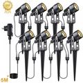 Angmile Garden Lights Landscape Lights Grass Lights Lawn Lights Tree Lights Luminous Road Easy Installation Widely Applicable Garden Lights-8PCS 3000W-3200W