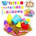 Kids Beach Sand Toys Set,34pcs Beach Toys with Beach Bucket,Ice Cream Toys,Sand Molds,Beach Bag,Play Sand Toys for Toddlers Girls Boys