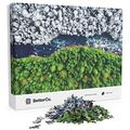 BetterCo. - Split Seasons Puzzle - Difficult Jigsaw Puzzles 1000 Pieces - Challenge Yourself with 1000 Piece Puzzles for Adults and Teens