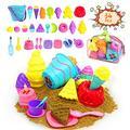 NINFICHO Kids Beach Sand Toys Set,34pcs Beach Toys with Beach Bucket,Ice Cream Toys,Sand Molds,Beach Bag,Play Sand Toys for Toddlers Girls Boys
