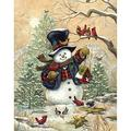 Bits And Pieces 300 Large Piece Jigsaw Puzzle For Adults Winter Friends Snowman Puzzle By Artist Janet Stever 300 Pc Jigsaw