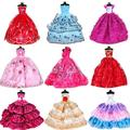 Doll Clothes Dresses for Barbie Girl Dolls 10 Pcs Lot - Handmade Clothes for Barbie 11.5 Inch Girls Doll Wedding Party Dresses Gowns Outfit Costume Toys for Kids Xmas Birthday Random Style
