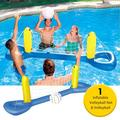Inflatable Volleyball Net 96.1 x 25.2 inch Volleyball Inflatable Pool Float Set for Kids Adults Swimming Game Toy Summer Floats