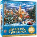 """MasterPieces Holiday Collection - Sledding to Home 19.25"""" x 26.75"""" Jigsaw Puzzle - 1000 Pieces"""
