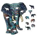 Aihome Wooden Jigsaw Puzzles, Beautiful Unique Family Animal Shape Jigsaw Puzzles Best Gift for Adults and Kids, Ethnic Collection Shaped Puzzle