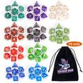 DND Dice Sets, 10 X 7 Sets (70 Pieces) Polyhedron Dice for Dungeons and Dragons RPG MTG D&D Tabletop Game with 1 Big Pouch D4 D8 D10 D12 D20