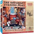 """MasterPieces Saturday Evening Post Collection - Road Block 25"""" x 25"""" Jigsaw Puzzle - 1000 Pieces"""