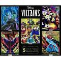 Ceaco - Disney Villains 5 in 1 Multipack Jigsaw Puzzle Bundle Set, (2) 300 Piece, (2) 500 Piece, (1) 750 Piece, Kids and Adults