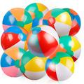 Coogam Inflatable Beach Ball Swimming Pool Summer Water Toy 12 inches(10 PCS)