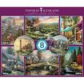 Ceaco - National Parks 8 in 1 Multipack Jigsaw Puzzle Bundle Set - (2) Round 300, (4) 550, (1) 750, (1) 1000 Pieces, Kids and Adults