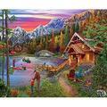 SUNSOUT INC Stone Bridge Lake 1000 pc Jigsaw Puzzle by Artist: Tom Wood