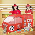 Fire Truck, Kids Play Tent, Indoor & Outdoor Playhouse Foldable Tent for Kids, Fire Engine Design Play Tent Red Engine Toy Gift for Boys and Girls, Folding Portable Playpen Tent Play Yard