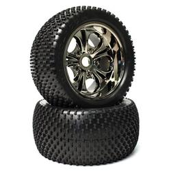 CEN Racing CEGCKR0504 Sniper Wheels & Tires Spikes Spare Parts Set, Black