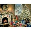 Bits And Pieces 300 Large Piece Glow In The Dark Puzzle For Adults Not A Creature Was Stiring, Christmas Eve, Holiday By Artist Nicky Boehme 300 Pc Jigsaw