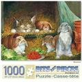 bits and pieces - 1000 piece jigsaw puzzle for adults - bunnies - 1000 pc rabbit jigsaw by artist lynne jones