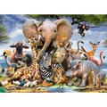 Jigsaw Puzzle, 1000 Pieces, 1000 Pieces Puzzles for Adults, Children, Friends, Intellectual Psychedelic Card Game (Animal World)