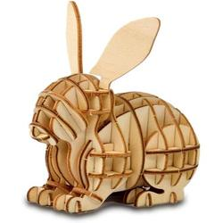Barka Ave 3D Wooden Puzzle Toys for Kids Adults Wooden Animal Rabbit Model Puzzle, Mechanical Puzzles Jigsaw Puzzle Toys Model Kits Assemble Puzzle Educational Toys Gifts for Kids Adults Boys Girls