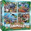 Masterpieces - World of Animals 100 Piece Puzzle 4pk