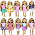 ZITA ELEMENT 10 Sets Clothes for American 18 Inch Girl Doll - Handmade Fashion Oufits, Daily Party Dress Fits 16 Inch - 18 Inch Girl Dolls Accessories