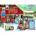 Sunsout Nostalgic Holiday Quilts Jigsaw Puzzle Art by Tom Wood 1000 Pieces