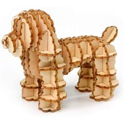 Barka Ave 3D Wooden Puzzle Toys for Kids Adults Wooden Animal Dog Poodle Model Puzzle, Mechanical Puzzles Jigsaw Puzzle Toys Model Kits Assemble Puzzle Educational Toys Gifts for Kids Adults