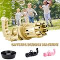 Gatling Bubble Machine, Gatling Electric Bubble Gun, Pawst 8-Hole Automatic Bubble Maker Machine, Kids Bubble Gun Outdoor Toys for Boys and Girls (Bubble Water NOT INCLUDED)