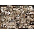 Tenyo Mickey Mouse Monochrome Black and White Film Movie Jigsaw Puzzle (1000 Piece)